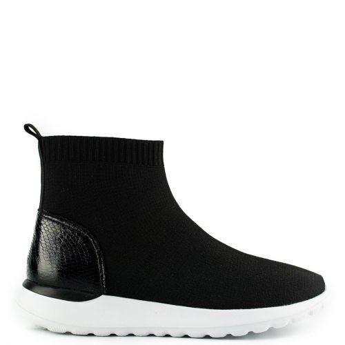 Μαύρο slip-on sneaker μποτάκι