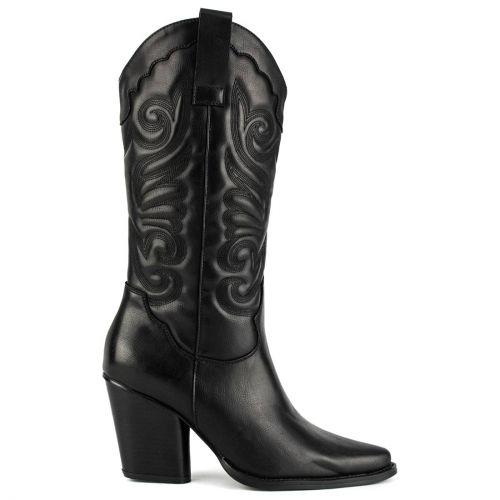 Μαύρη western μπότα