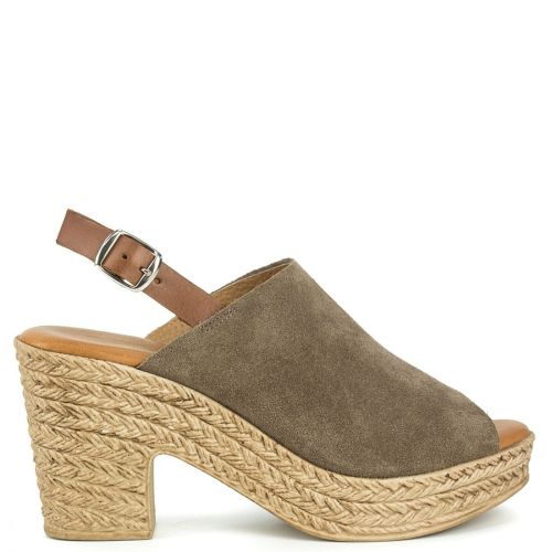 Taupe leather sandal