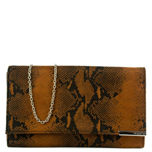 Tan snakeskin envelope