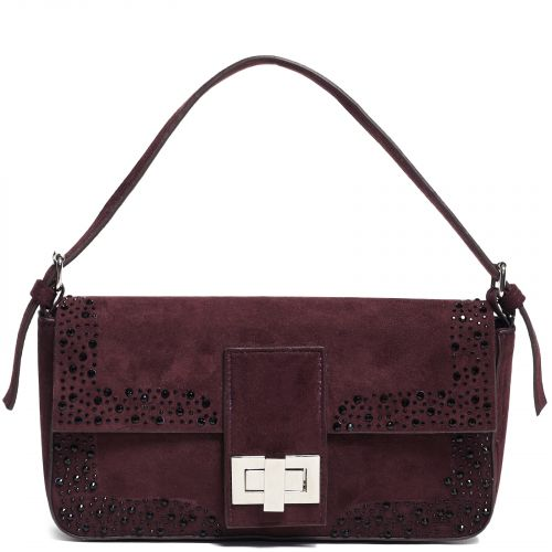Burgundy shoulder purse