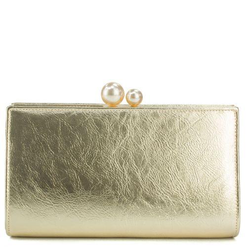 Χρυσό μεταλλικό clutch
