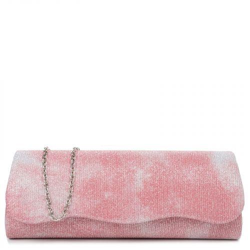 Ροζ γυαλιστερός υφασμάτινος φάκελος