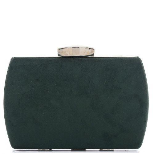 Πράσινο clutch με καστόρινη υφή