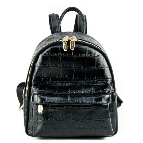 Black mini croc backpack