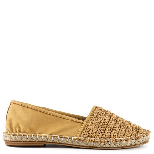Beige leather espadrilles