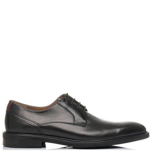 Ανδρικό μαύρο δερμάτινο παπούτσι