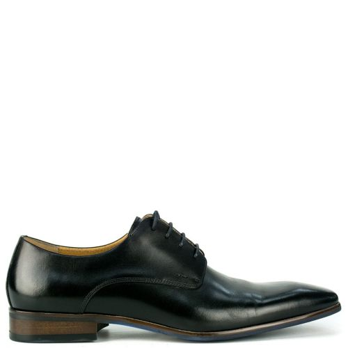 Men's black leather Oxford