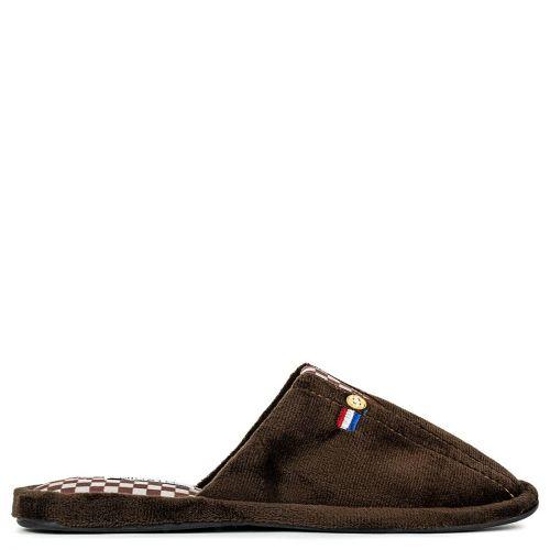Men's brown velvet slipper
