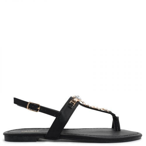 Black thong sandal