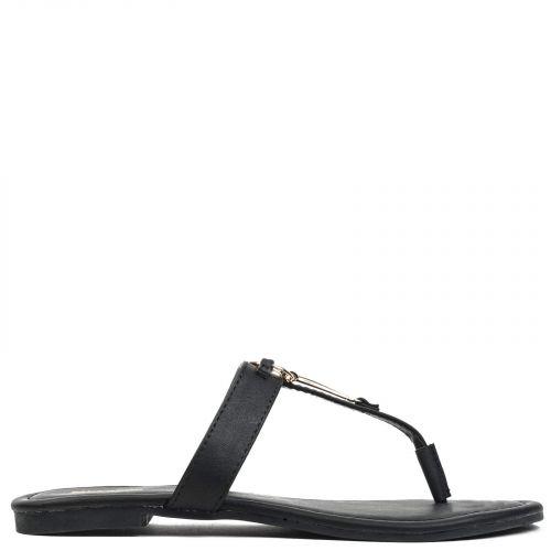 Black thong sandal