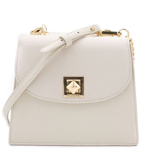 Double side beige shoulder bag