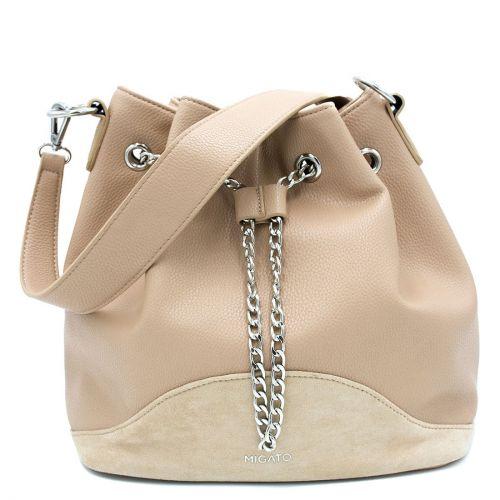 Μπεζ τσάντα πουγκί