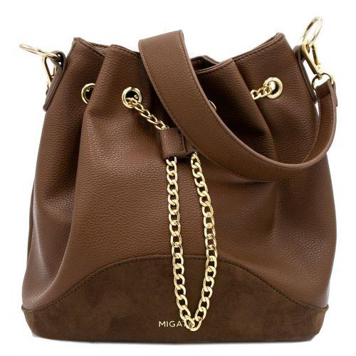 Brown drawstring bag