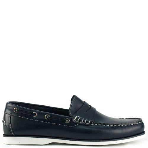 Δερμάτινο μπλε boat shoe