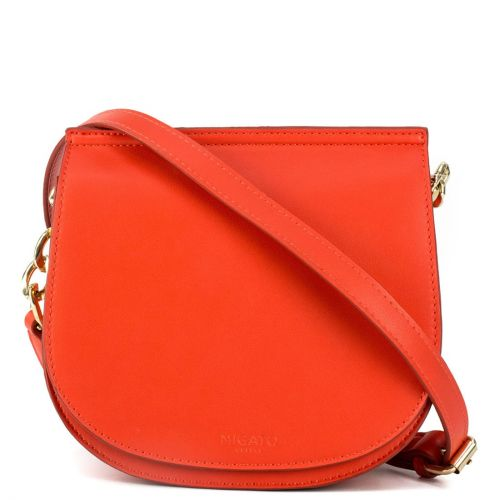 Red crossbody with a flap