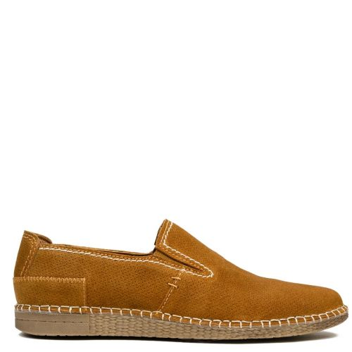 Men's tabacco leather espadrille