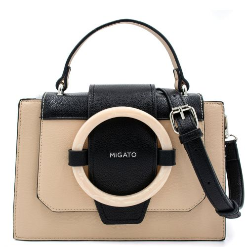 Nude handbags with decorative ring