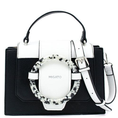 Black handbags with decorative ring