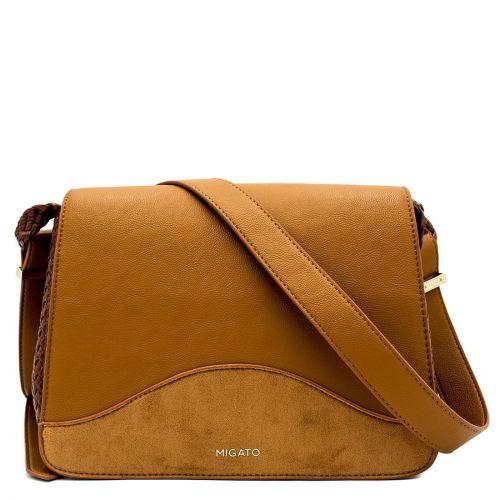 Ταμπά crossbody τσάντα με καπάκι