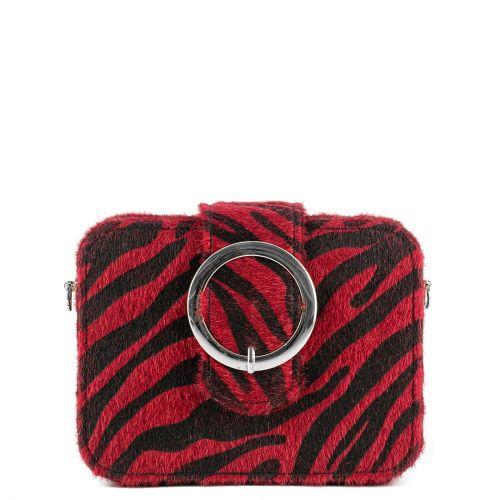 Red zebra clutch