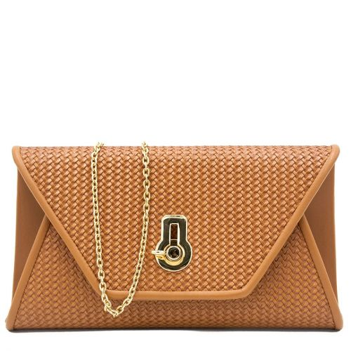 Tan woven look envelope