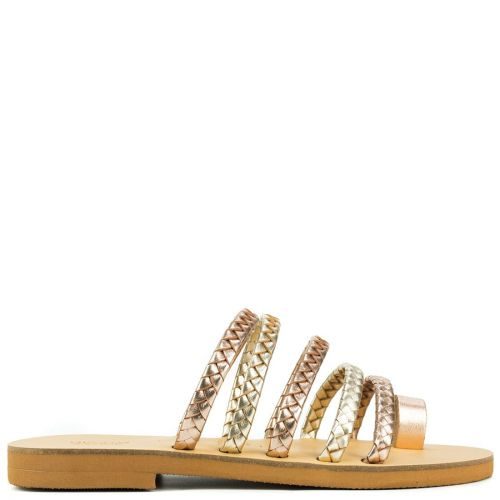 Rose gold Grecious leather sandal