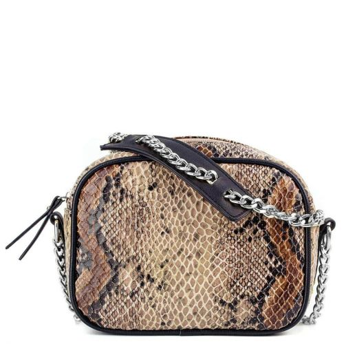 Snakeskin camera shaped bag