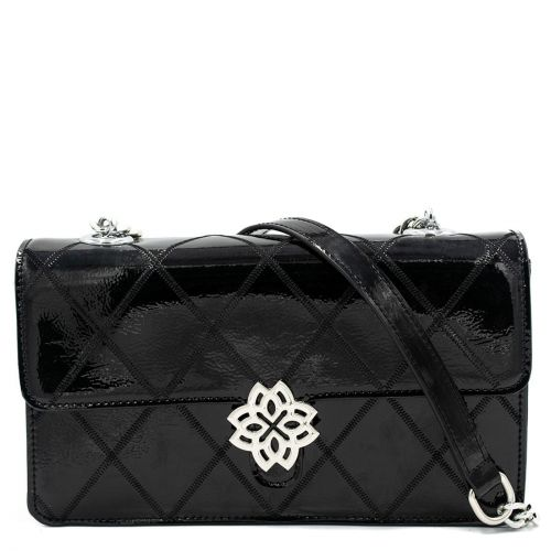 Μαύρη καπιτονέ τσάντα λουστρίνι