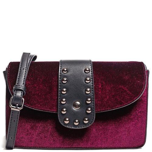 Dark red velvet bag