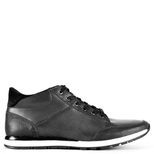 Men's grey leather sneaker