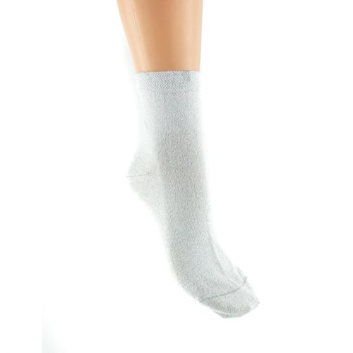 White ankle socks with glitter