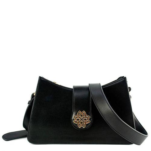 Μαύρη τσάντα με φερμουάρ