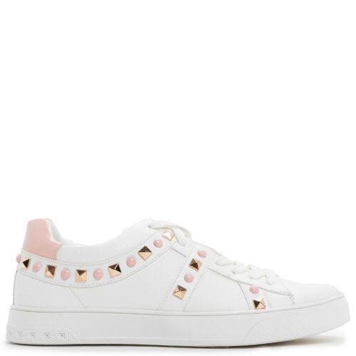 Λευκό sneaker με ροζ τρουκς