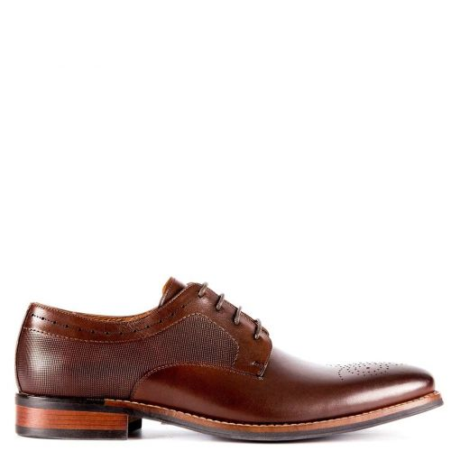 Men's brown leather Oxford