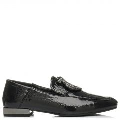 Black loafer with buckle