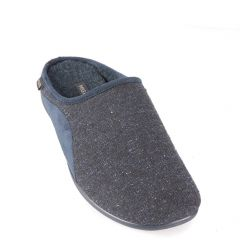 Blue-brown men's slippers