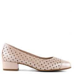 Nude leather pump