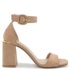 Beige sandal with metal