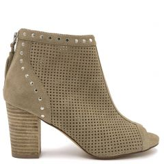 Beige suede  leather bootie
