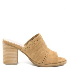 Camel leather mule