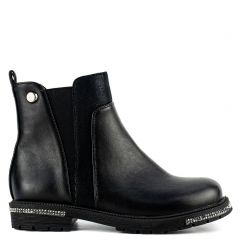 Kid's black Chelsea boot