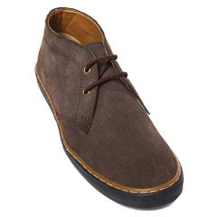 Men's brown leather suede boot