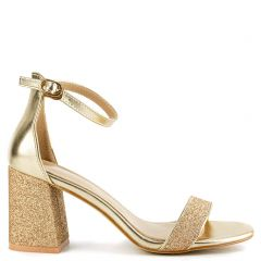 Gold sandal with glitter