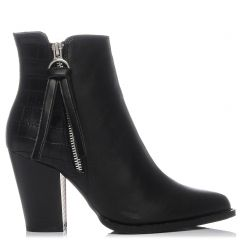 Black western bootie