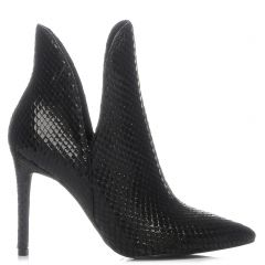 Black hig heel bootie