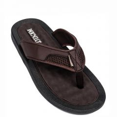 Men's brown flip-flop