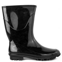 Women's black rain boot