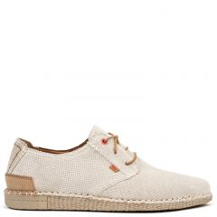 Men's ice grey leather espadrille