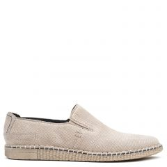 Men's grey leather espadrille
